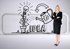 Stock Illustration of Composite image of a confident businesswoman with folded arms