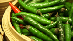 Chili peppers Stock Footage