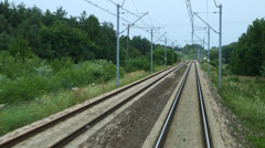 Train tracks - moving forward Stock Footage