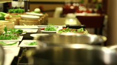 Oriental spices in Thai restaurant Stock Footage