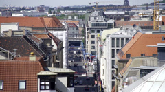 Berlin traffic time-lapse from above Stock Footage