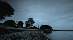 Lighthouse with stormy clouds Stock Footage