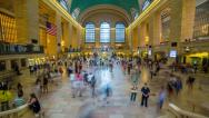 Stock Video Footage of Gran Central In New York Time Lapse