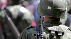 Military Soldier Stock Footage