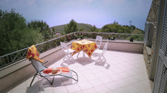Terrace in summer house Stock Footage