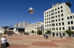 Wellington's civic square Stock Photos