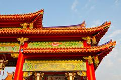 Stock Photo of colorful chinese temple roof