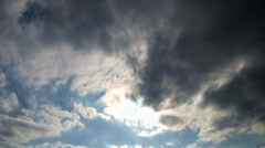 A sun is in cloudy sky Stock Footage