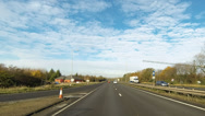 Stock Video Footage of Timelapse travel on the A14 dual carriageway road in England