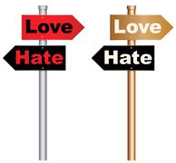 Love and hate Stock Illustration