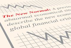 the new normal - stock illustration