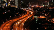 Stock Video Footage of Timelapse of busy traffic with miniature effect.