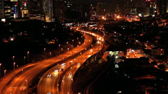 Timelapse of busy traffic with zoomed in. Stock Footage