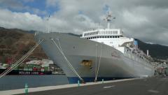 Thomson cruise ship spirit, santa cruz, la palma, spain Stock Footage
