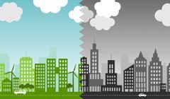 Eco-city. Stock Illustration