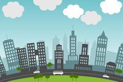 City. Stock Illustration