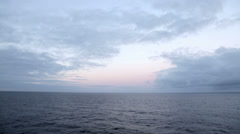 twilight and clouds over the sea - stock footage