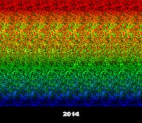 Happy new year 2014 - 3d stereogram Stock Illustration