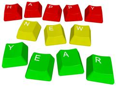 Happy new year - pc keys Stock Illustration