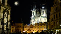 Prague, Church of Our Lady before Tyn Stock Footage