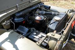engine of world war two vehicle - stock photo