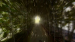 surreal psychedelic ghostly tunnel - stock footage