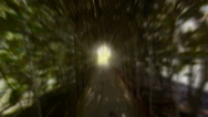 Stock Video Footage of surreal psychedelic ghostly tunnel