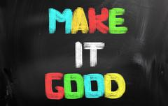 make it good concept - stock illustration