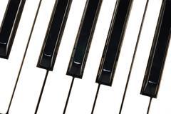 Klavier tasten schraeg Stock Photos