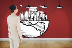 Stock Illustration of Composite image of asian businesswoman
