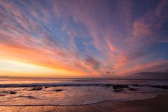 Dawn Colors Beach Sky Colors Stock Photos