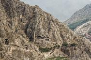 Stock Photo of rock tombs in amasya, turkey