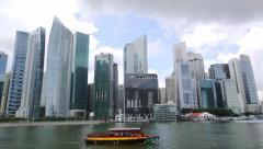 Singapore Business District Arkistovideo