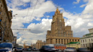 Stock Video Footage of Ministry of Foreign Affairs buiding in Moscow Russia time lapse