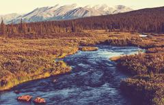 River on alaska Stock Photos