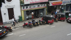 Kandy Street Scene Stock Footage