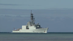Royal Canadian Navy ship HMCS Algonquin (DDG 283) Stock Footage