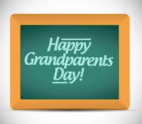 Stock Illustration of happy grandparents day written message