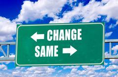 Change and same sign Stock Illustration