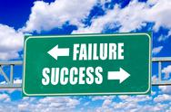 Stock Illustration of failure and success sign