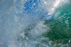 Stock Photo of Inside Hollow Wave Water