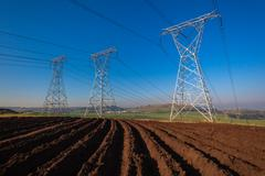 Stock Photo of Electrical Towers Power Economy