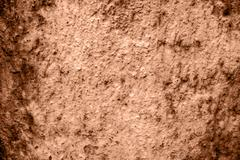 wall of concrete with spoiled coating - stock photo