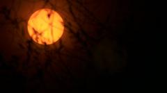 Sun solar filter - stock footage