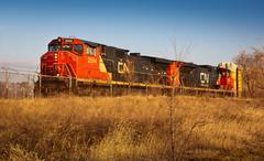 cn railroad - stock photo
