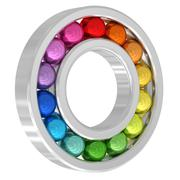 bearing with colorful balls isolated on white background - stock illustration