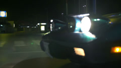 Blue Corvette side shot during the driving Stock Footage
