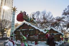 Santa in 2013 Macy's Parade Stock Photos