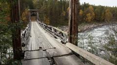 Bridge over torrent 1 Stock Footage