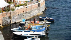 Fisherman marechiaro naples Stock Footage